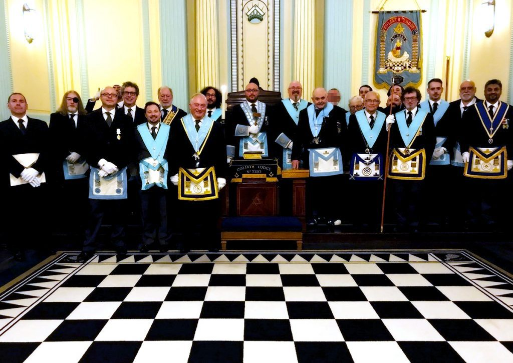 W. Bro. Marco Visconti and a full Lodge on Installation, May 8th 2019